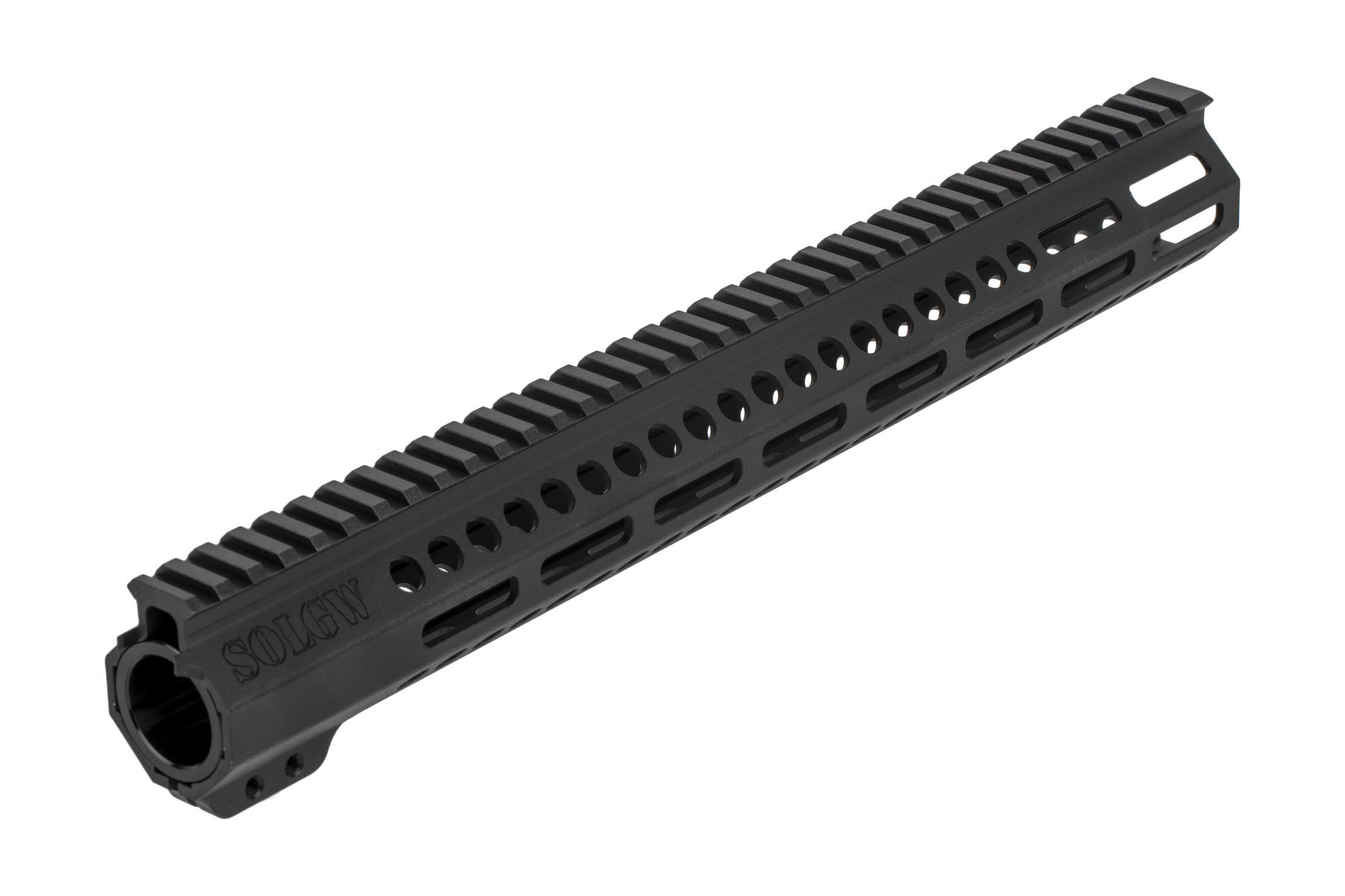 SOLGW 15in EXO 2 freefloat AR-15 handgaurd features dual anti-rotation tabs for secure installation