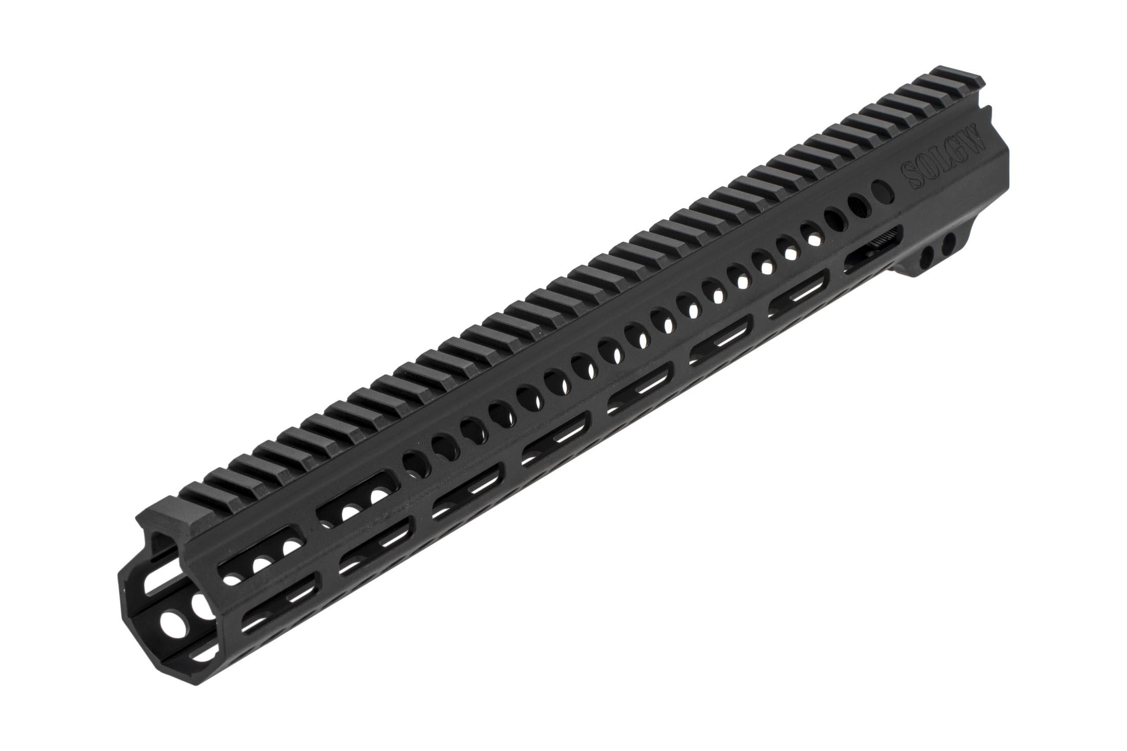 Sons of Liberty Gun Works free float 15in Exo2 freefloat AR 15 handguard has a full length M1913 Picatinny top rail
