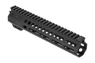 Sons of Liberty Gun Works Exo2 AR-15 handguard is 9.5in long, fully freefloated, and accepts M-LOK accessories