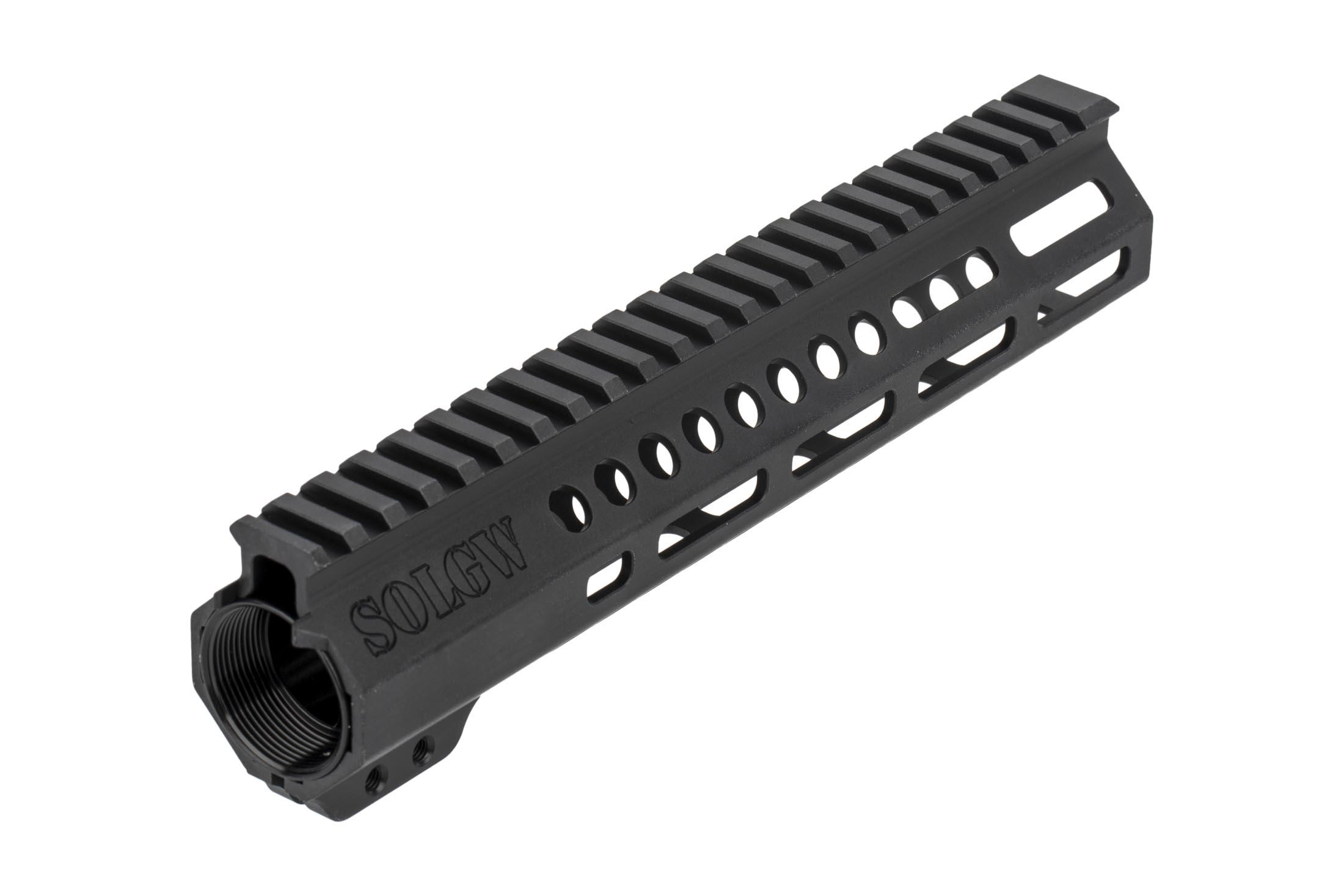 SOLGW 9.5in EXO 2 freefloat AR-15 handgaurd features dual anti-rotation tabs for secure installation
