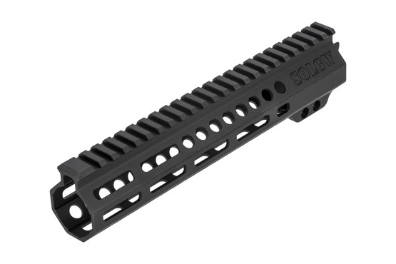 Sons of Liberty Gun Works free float 9.5in Exo2 freefloat AR 15 handguard has a full length M1913 Picatinny top rail