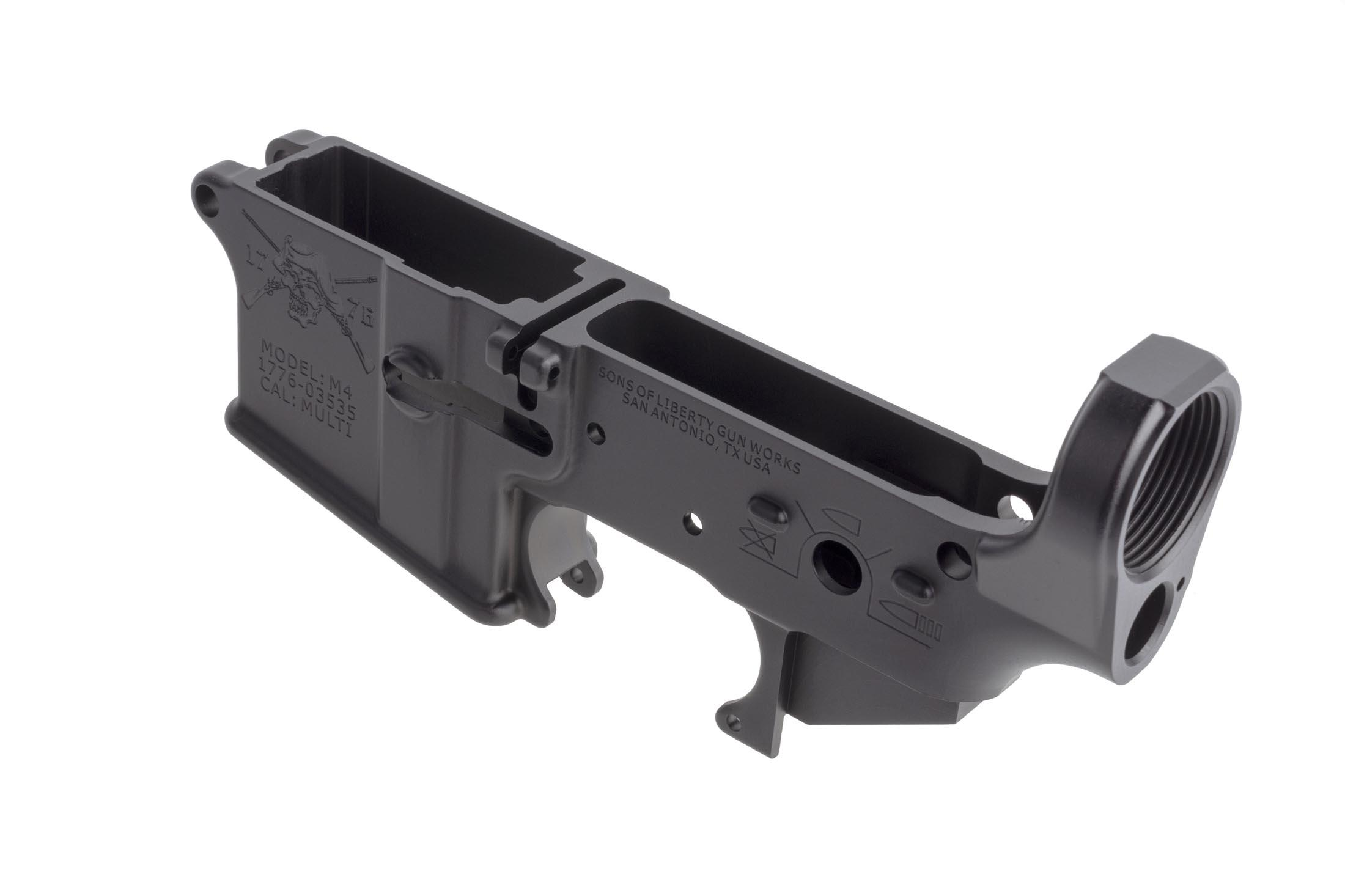 SOLGW Angry Patriot stripped AR-15 angry patriot lower is compatible with your favorite MIL-SPEC components