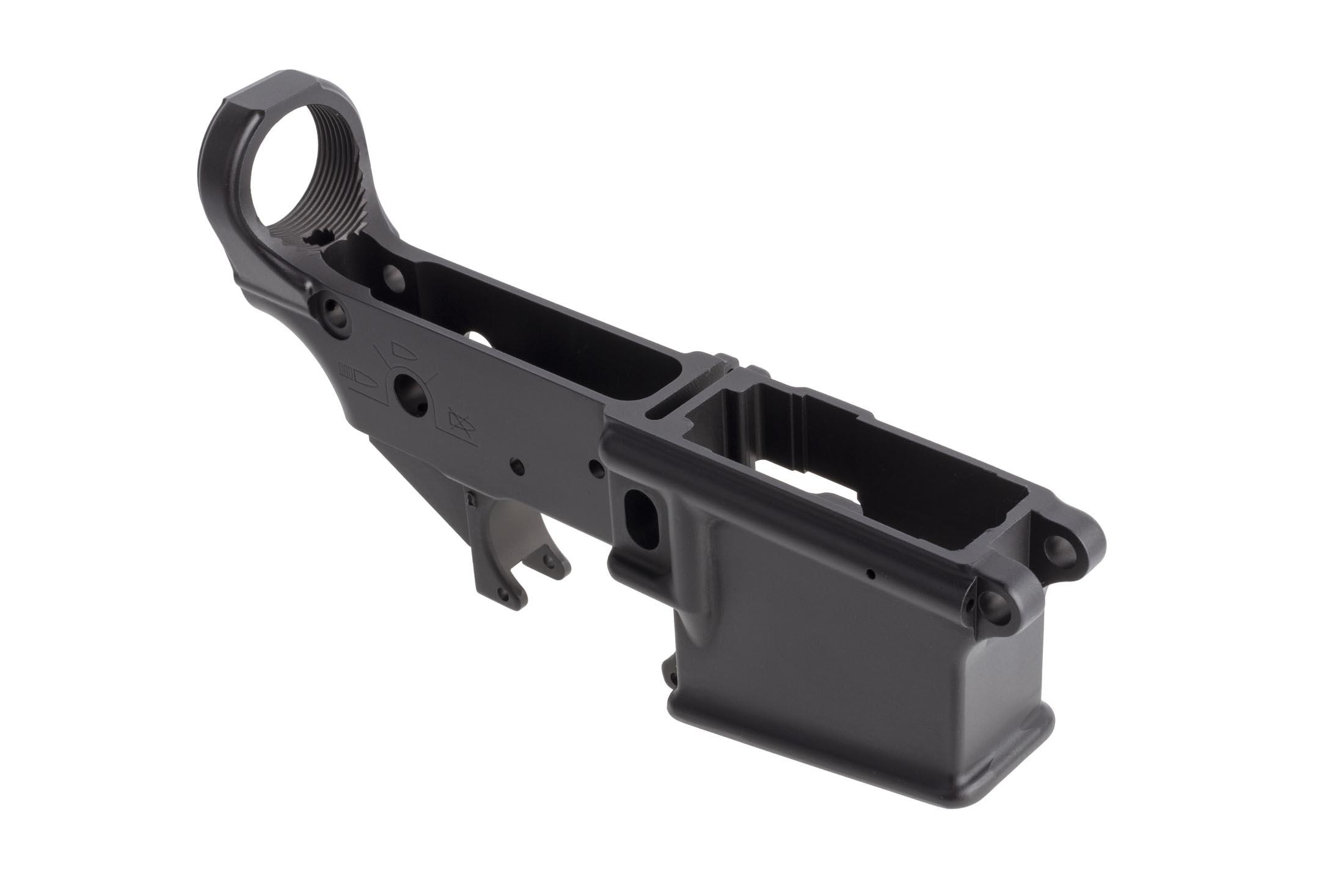 Sons of Liberty Gun Works angry patriot stripped lower receiver is a forged 7075-T6 aluminum lower with high quality finish