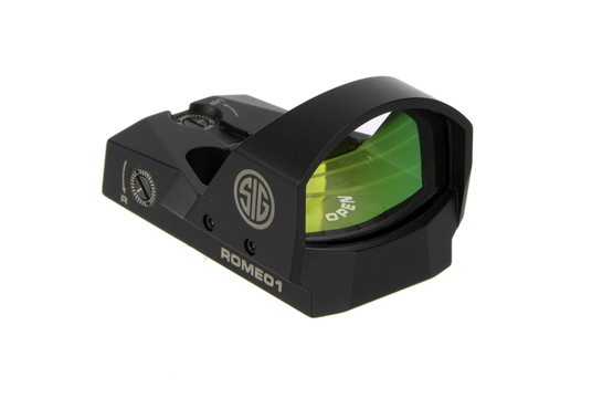 The Sig Sauer Romeo 1 reflex sight features a 3 moa red dot reticle