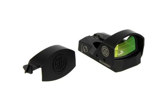 The Sig Romeo 1t reflex sight comes with a protective lens cover