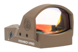 SIG Sauer ROMEO1 Pro Mini Reflex Sight features a flat dark earth anodized finish