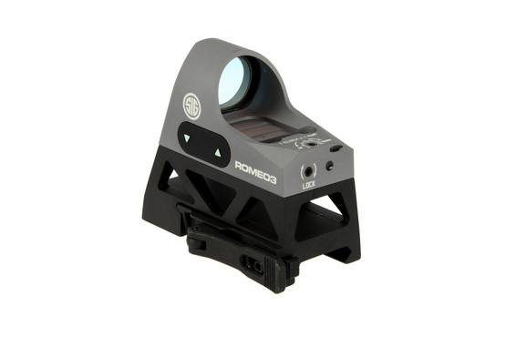 The micro red dot sight by sig sauer is cnc machined from aluminum