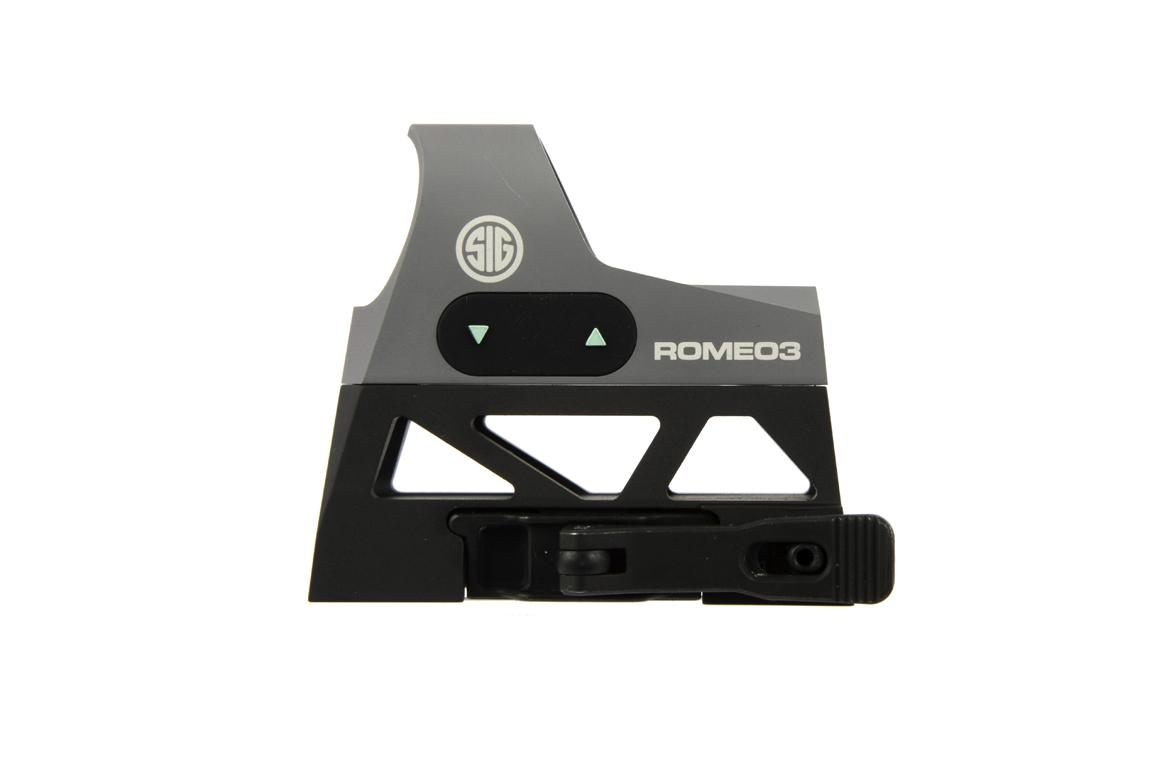 The romeo 3 red dot ar15 illuminated sight comes with a picatinny mount