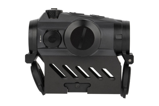 SIG Sauer Romeo 4M red dot sight is equipped with an AR-height mount with flip cap protective covers