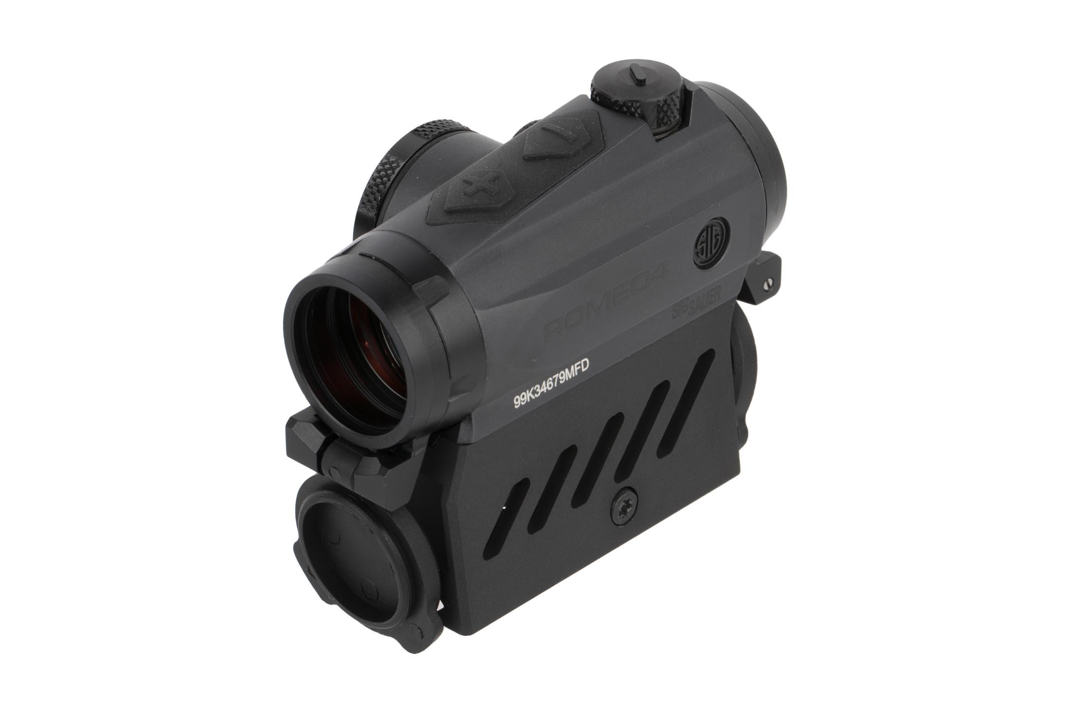 SIG Sauer lightweight Romeo 4M 2 MOA microdot features 12 brightness settings including 2 Nightvision Compatible settings