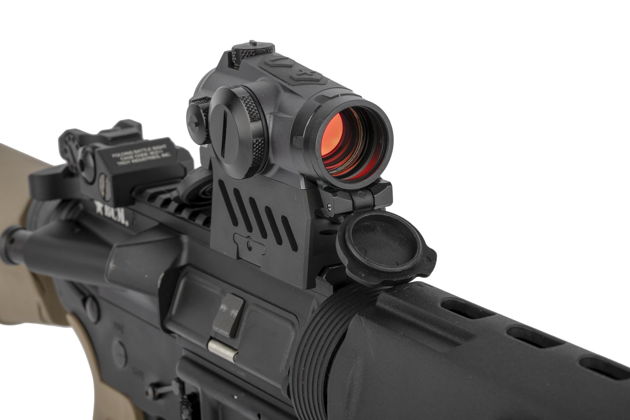 SIG Sauer Romeo 4M 2 MOA red dot sight mounted to an AR-15 for size reference