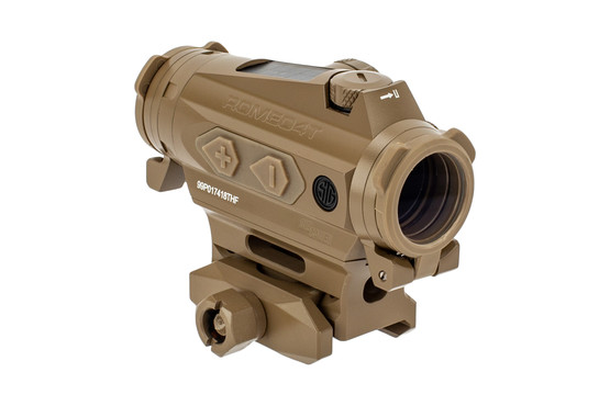 SIG Sauer ROMEO 4T red dot optic FDE features a solar failsafe