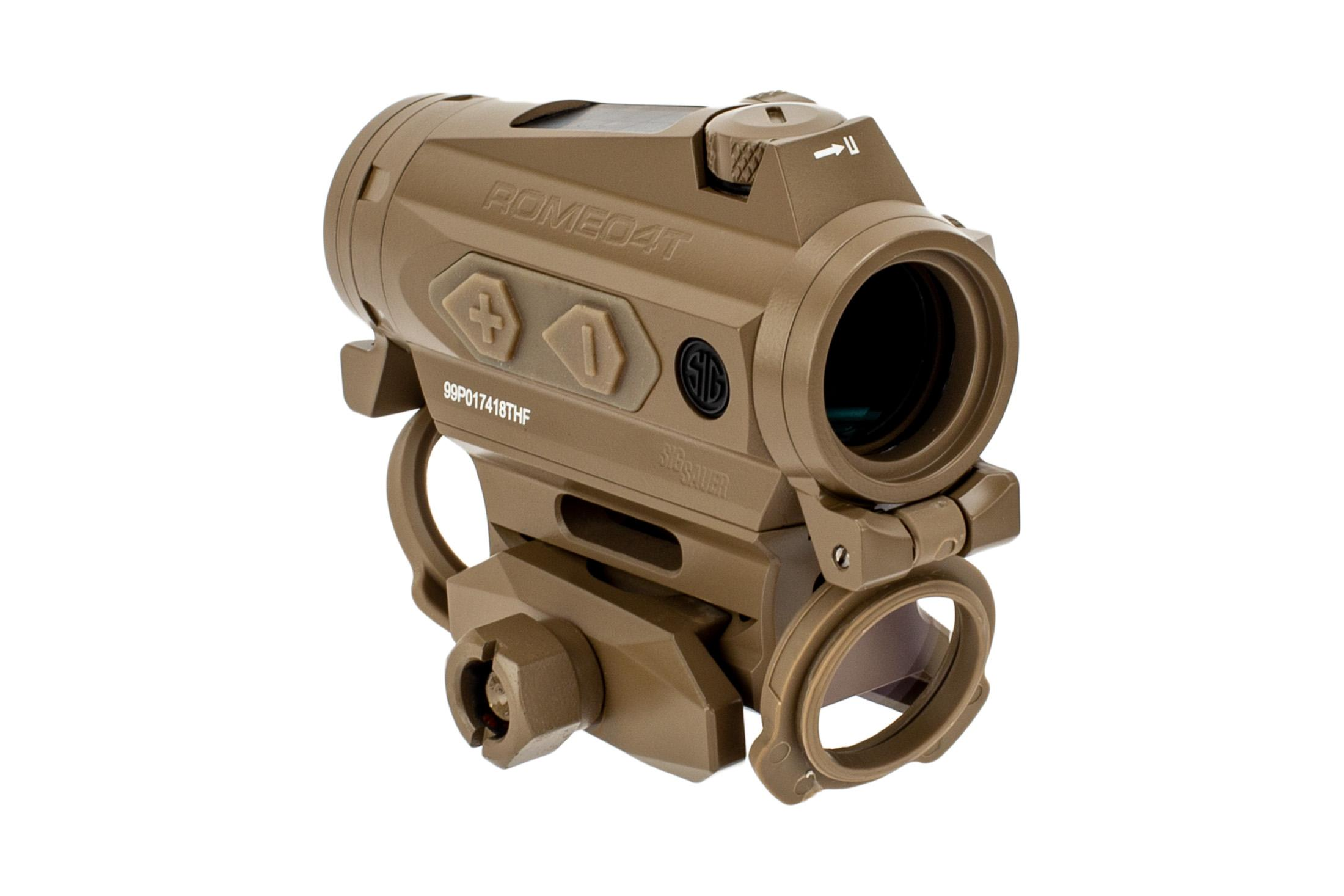 SIG ROMEO 4T red dot flat dark earth includes a picatinny rail mount