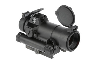 The Sig Sauer Romeo 7 red dot sight features a 2 MOA illuminated dot