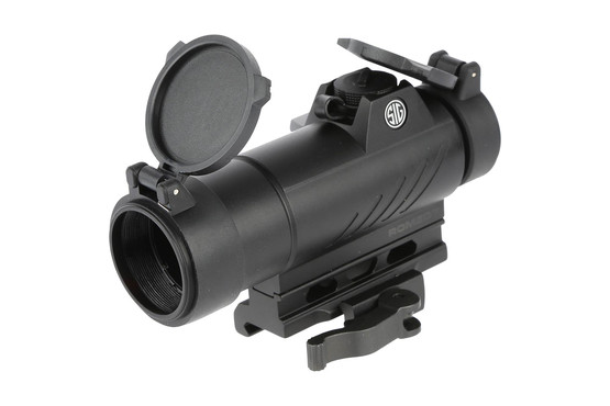 The Sig Sauer Romeo7 red dot sight features motion activated illumination