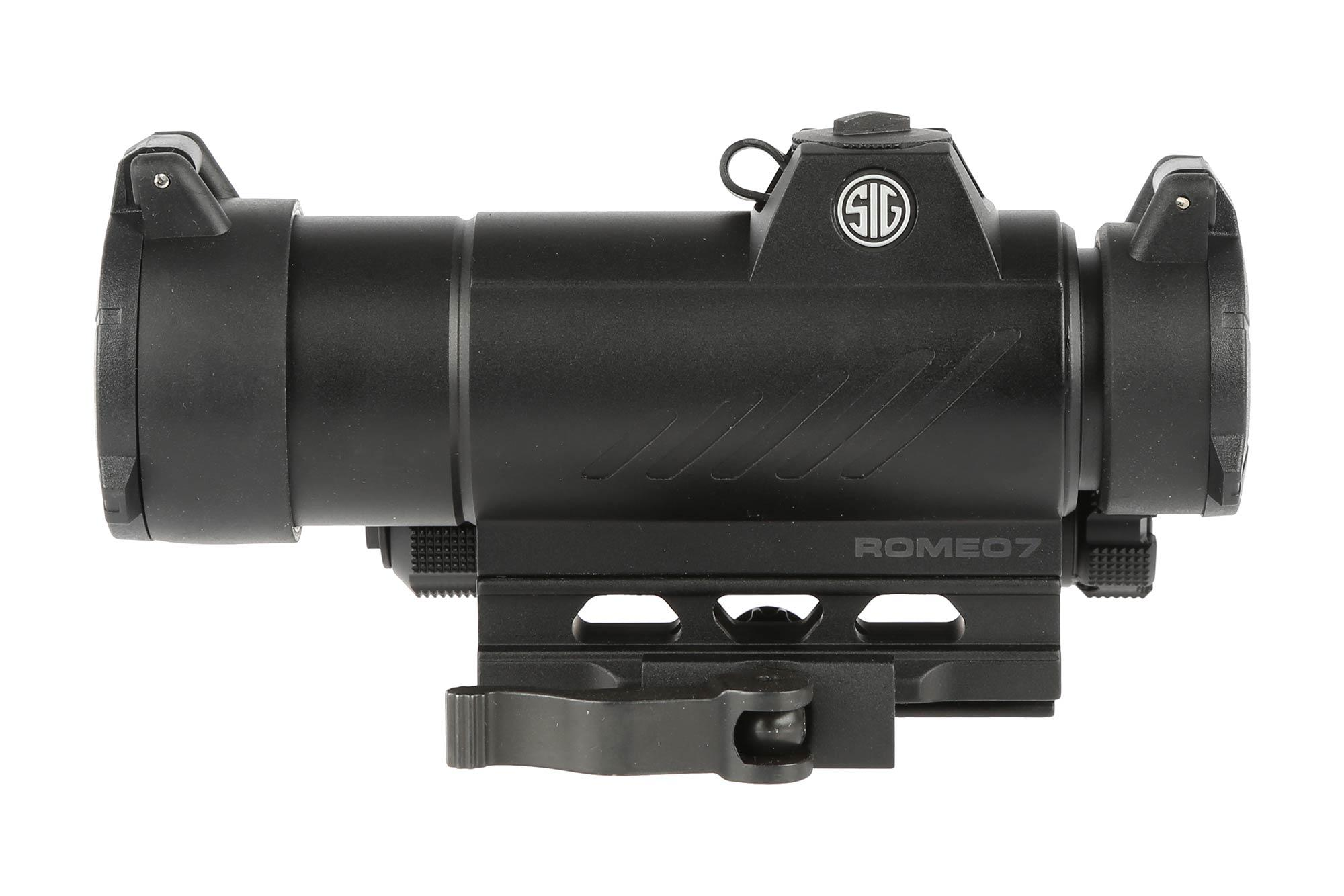 The Sig Romeo 7 red dot sight is constructed from 6061 aluminum