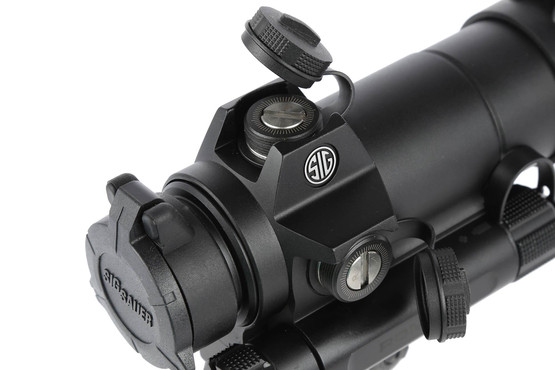 The Sig Romeo7 red dot sight features .5 moa click adjustments