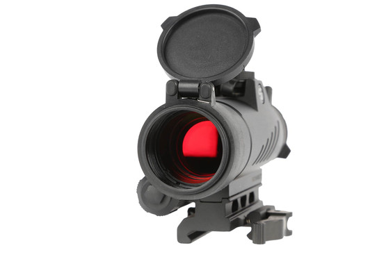 The Sig Sauer Romeo 7 full size red dot sight features integrated lens covers