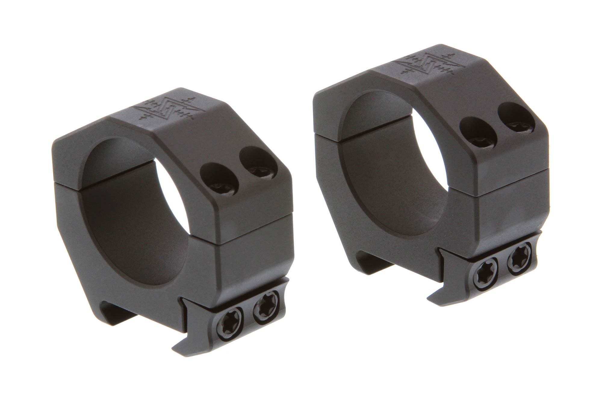 The Seekins Precision 30mm scope rings feature a medium height and 4-cap design