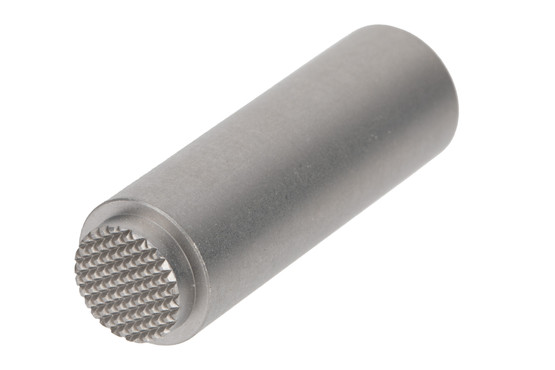 Nighthawk Custom stainless steel spring plug with checkered front for Government 1911s