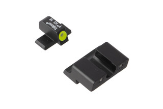 Trijicon HD Night Sights for Springfield XD pistols feature a photoluminescent yellow ring around the front lamp with blacked out rear lamps.