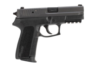 Sig Sauer SP2022 Full Size 9mm Pistol features a Black Nitron Stainless Steel Slide Finish
