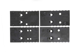 The Glock MOS adapter plate set comes with 4 options for compatibility with most red dot sights