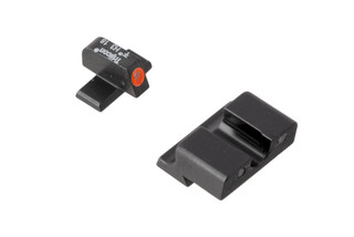 Trijicon HD XR Springfield XD night sights feature a blacked out rear sight with wide U-notch and hi-vis orange front sight with tritium inserts.