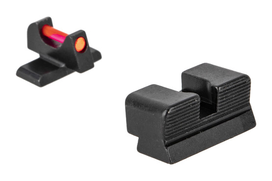 Trijicon's Fiber Sight Set for Springfield Armory XD-S handguns is a high-contrast competition and carry sight set