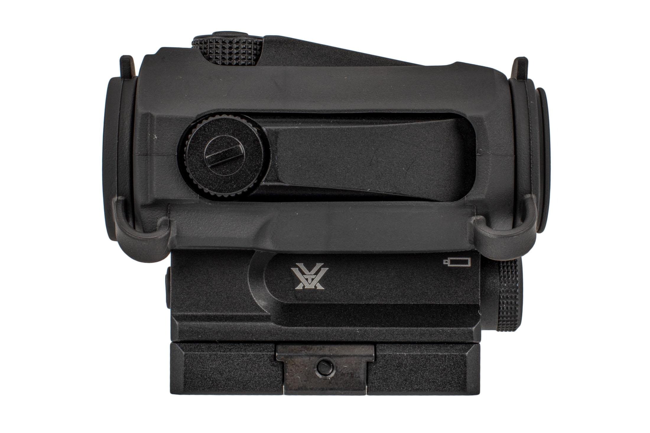 Vortex Optics SPARC AR 2 red dot sight runs on standard AAA batteries