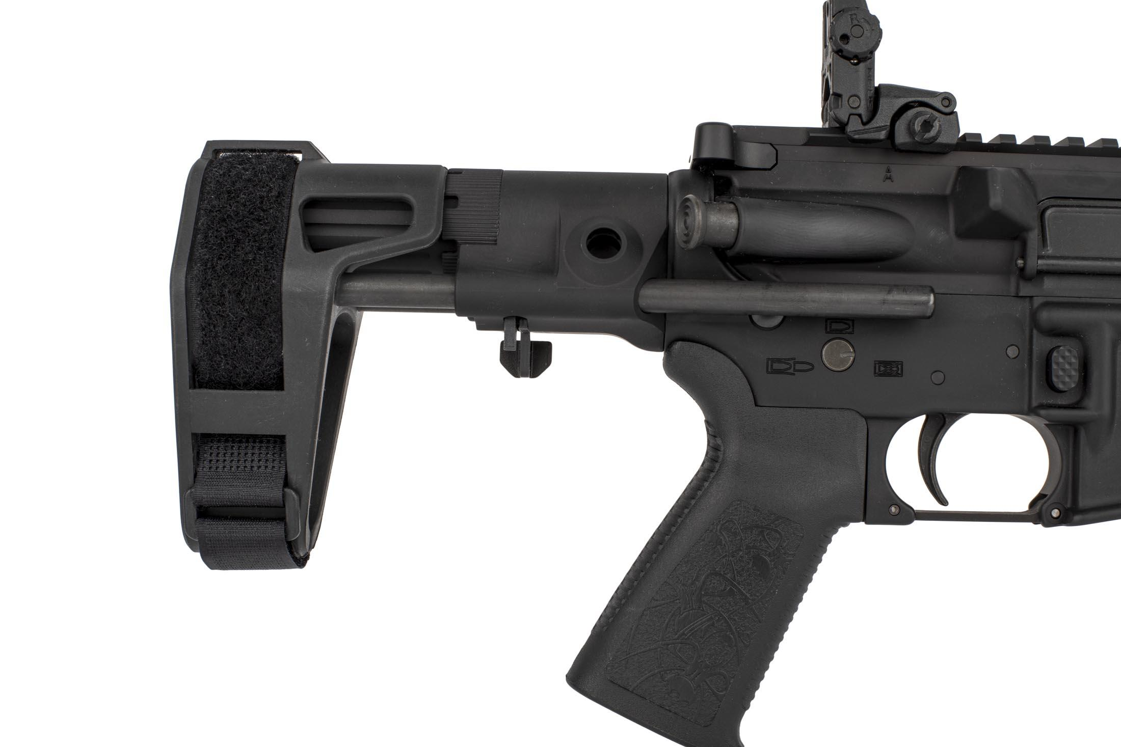 Spikes Quad Rail 81in AR15 Pistol In 556 NATO Is Equipped With A Maxim Defense