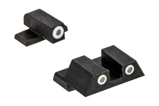 Night Fision Perfect Dot Night Sight Set with square notch, White front and White rear ring for the Springfield XD.