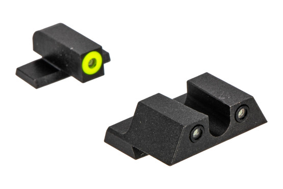 Night Fision Perfect Dot night sight set with U-notch, yellow front and black rear ring for the Springfield XD.