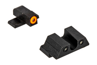Night Fision Perfect Dot night sight set with U-notch, orange front and black rear ring for the Springfield XD-S.
