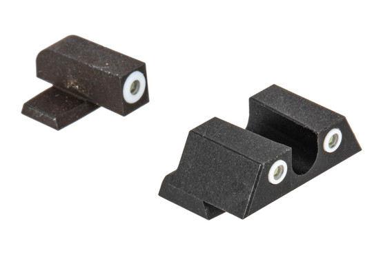 Night Fision Perfect Dot night sight set with U-notch, white front and rear ring for the Springfield XD-S.