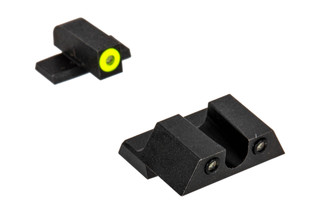 Night Fision Perfect Dot night sight set with U-notch, yellow front and black rear ring for the Springfield XD-S.