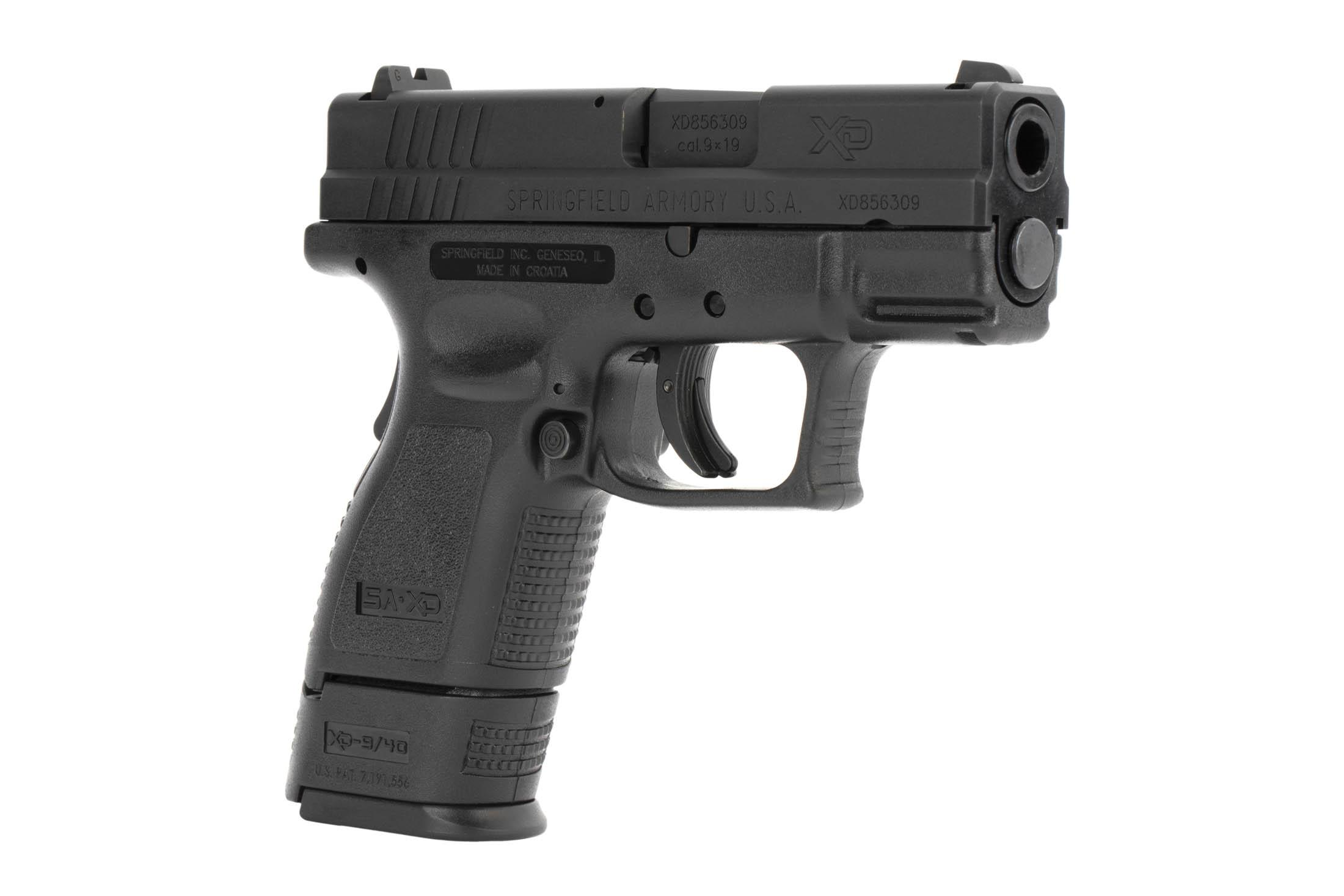 The Springfield Armory XD9 is a 9mm Sub Compact 16 round Handgun with a 3 inch Barrel designed for concealed carry