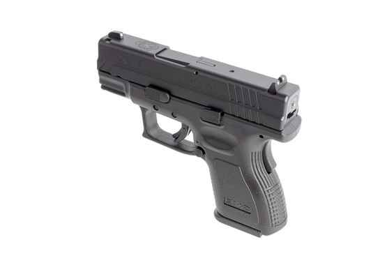 Springfield Armory 9mm sub-compact XD9 offers ambidextrous magazine releases, trigger safety, and grip safety