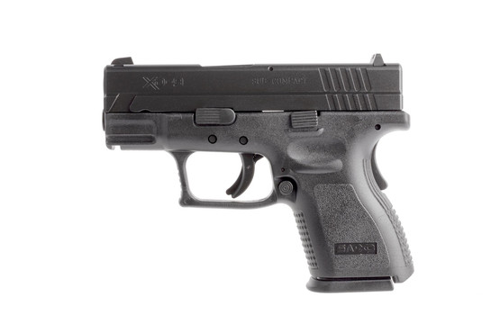 Springfield Armory subcompact XD9 9mm handgun has a short rail for your favorite weapon lights