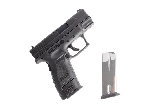 Springfield Armory 9mm subcompact XD-9 handgun includes a flush fit and one extended steel magazine