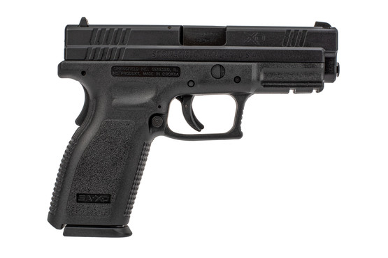 "Springfield Armory XD Defender Series 4"" full size handgun with 16-round capacity and polymer frame."