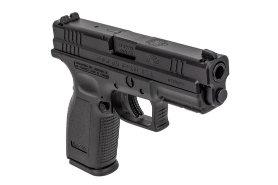 Springfield Armory Defender Series 4in XD handgun with 16-round mag and ambidextrous magazine release