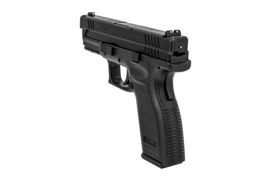 "Springfield Armory full size 4"" XD Defender handgun features a grip safety"