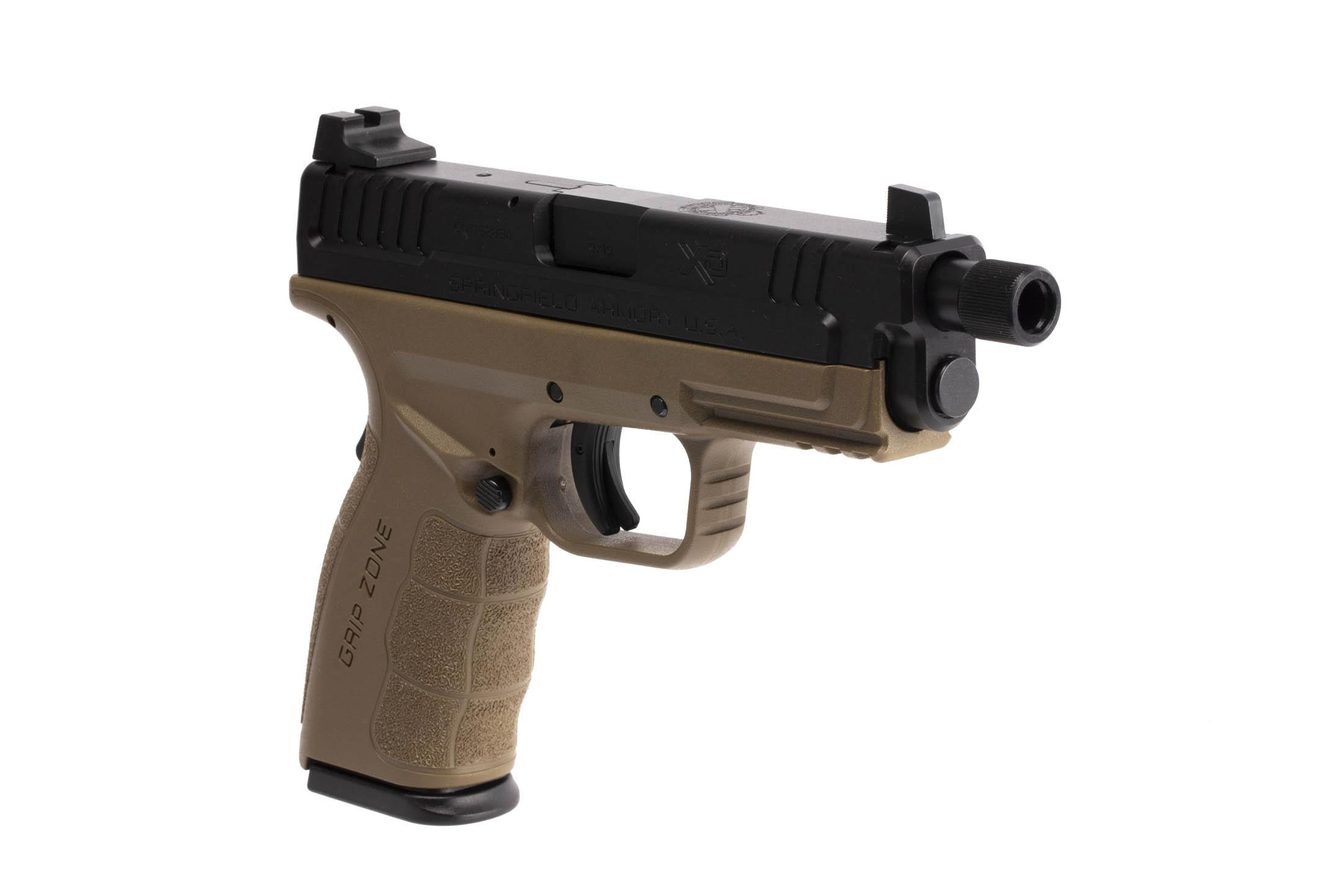 The Springfield Armory XD MOD.2 is a 9mm Full Size 16 round Handgun with a 4.8 inch Threaded Barrel for suppressors