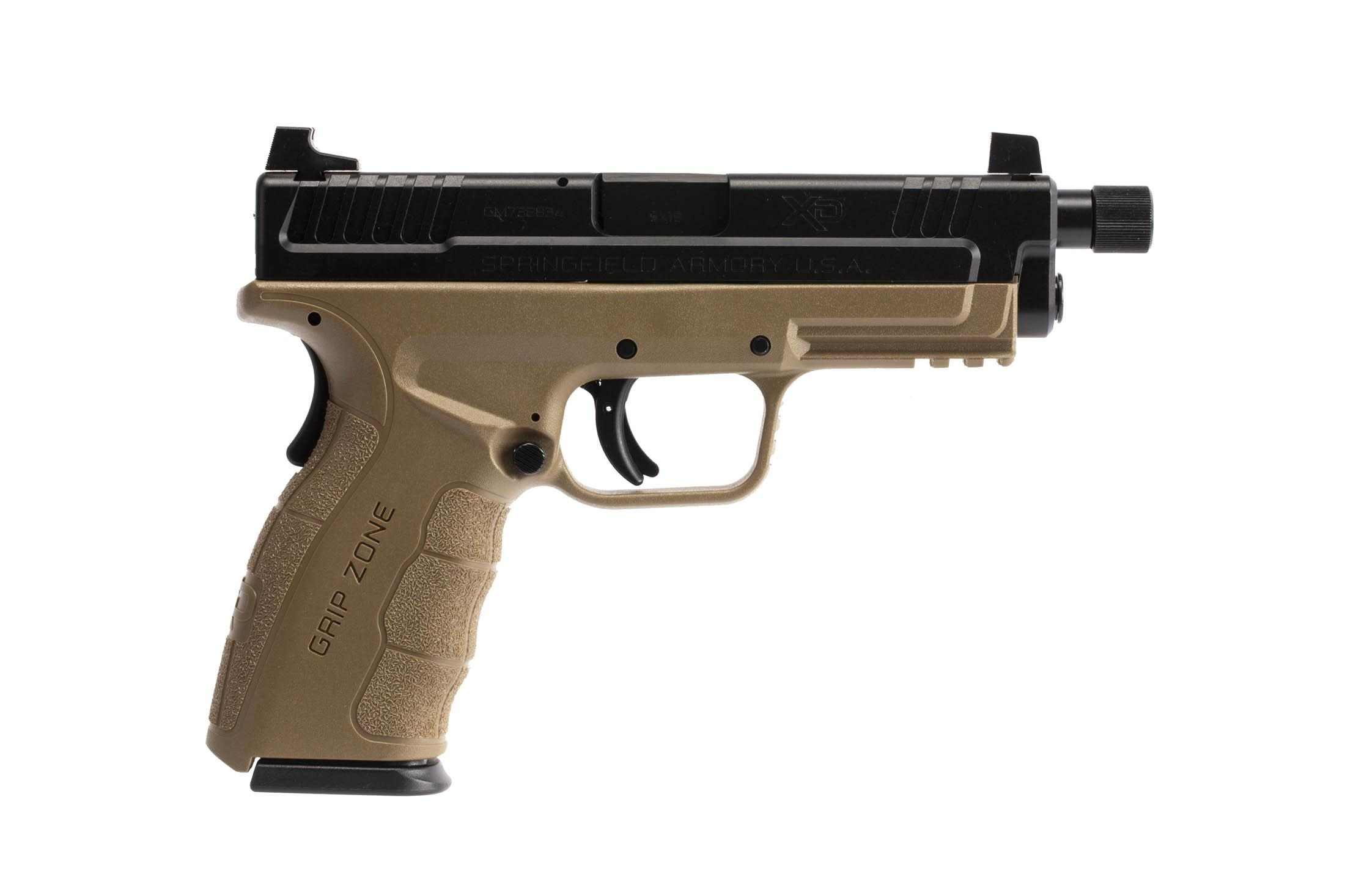 The Springfield Armory XD MOD.2 is a 9mm Full Size 16 round Handgun with suppressor height three dot iron sights