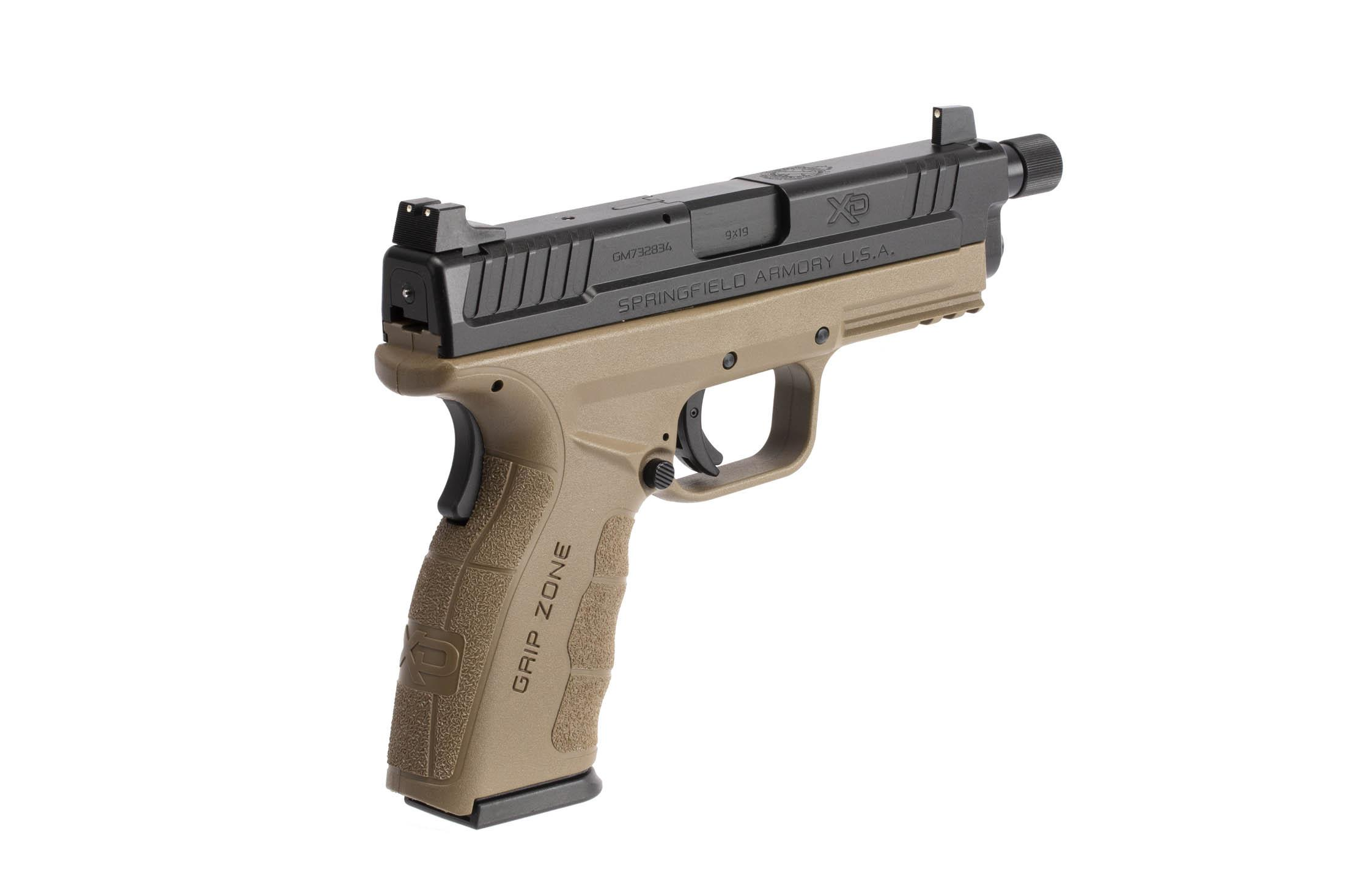 The Springfield Armory XD MOD.2 is a 9mm Full Size 16 round Handgun with ambidextrous grip safety