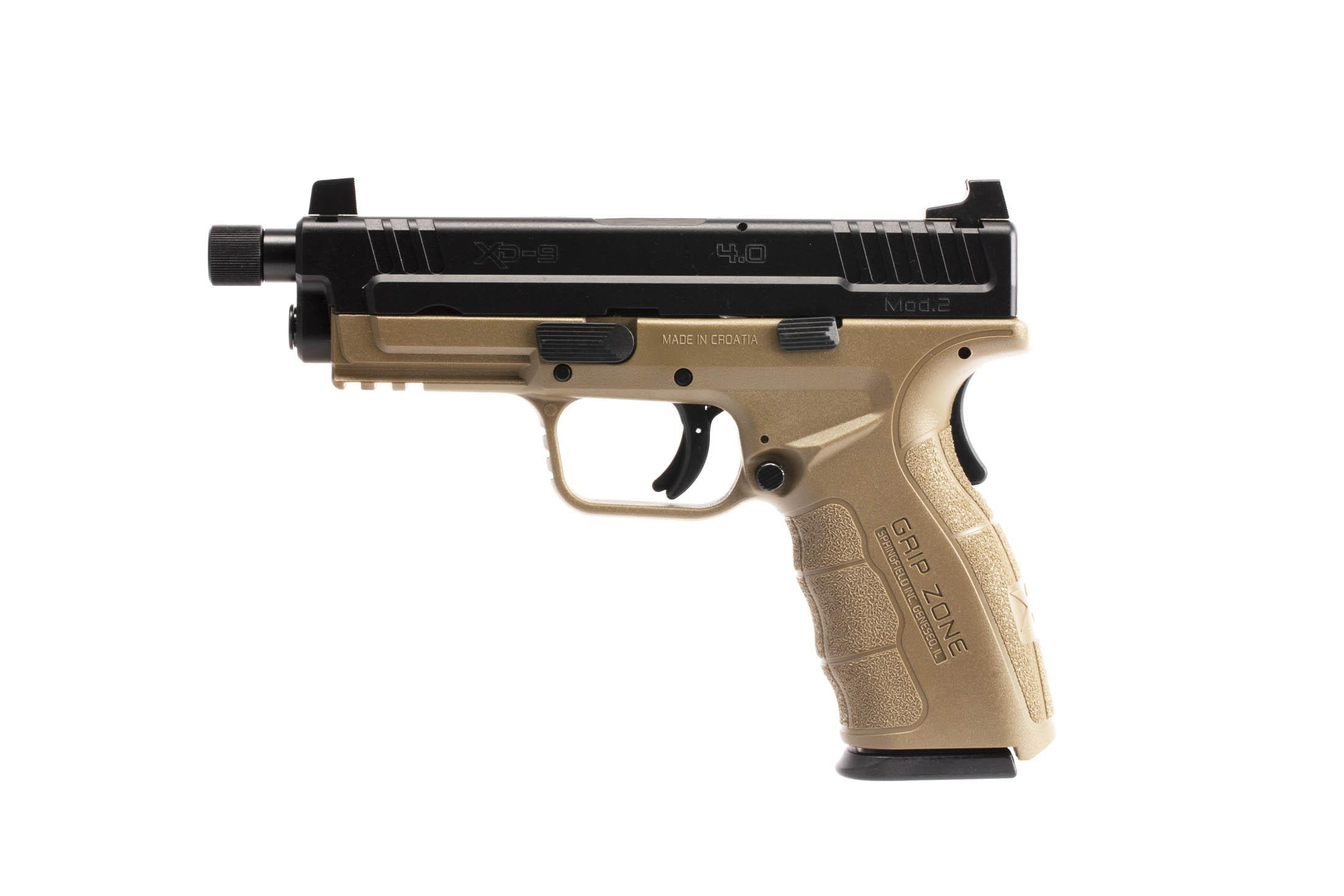 The Springfield Armory XD MOD.2 is a 9mm Full Size 16 round Handgun with a lightweight flat dark earth polymer frame