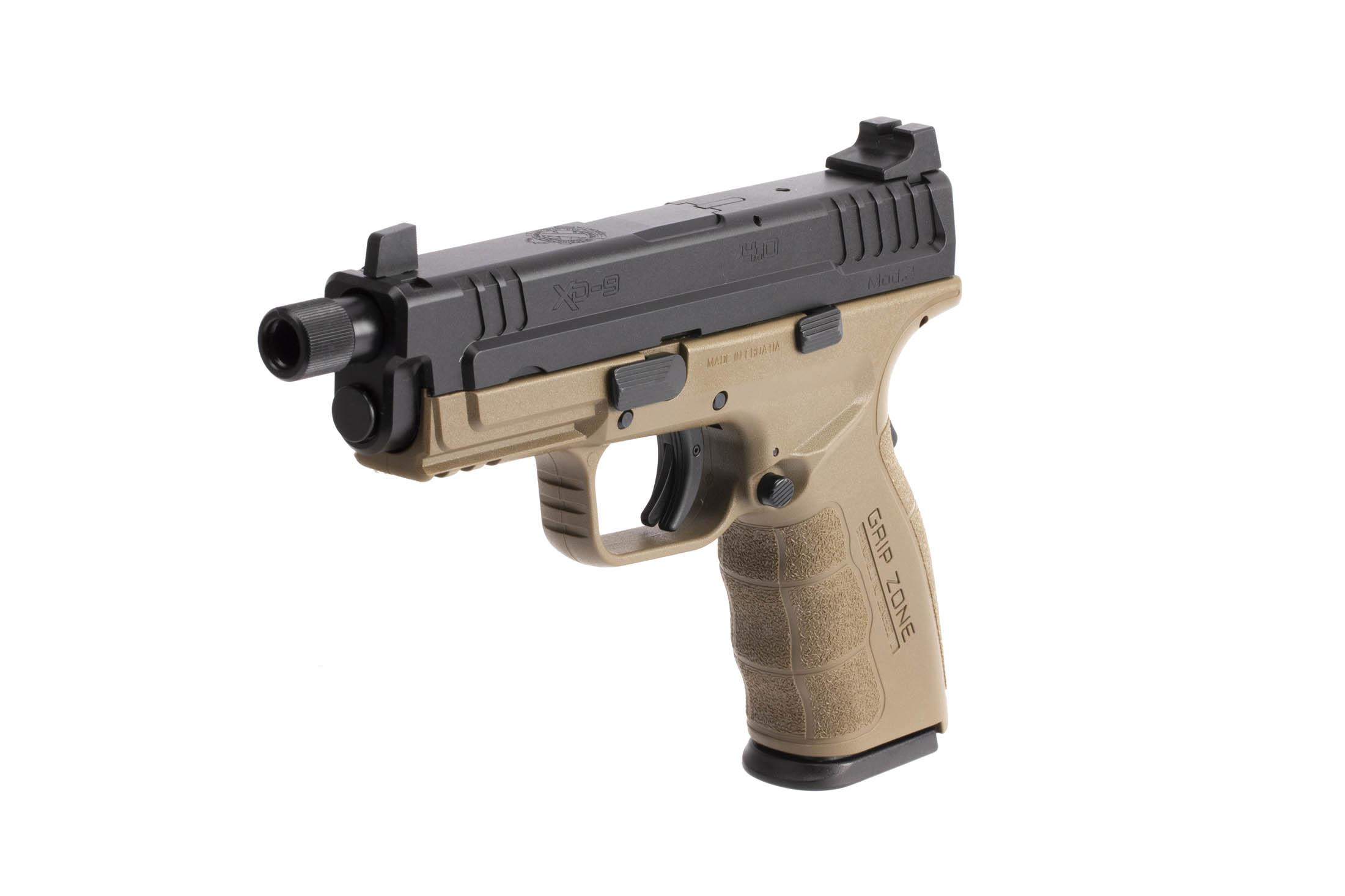 The Springfield Armory XD MOD.2 is a 9mm Full Size 16 round Handgun with enhanced grip texture