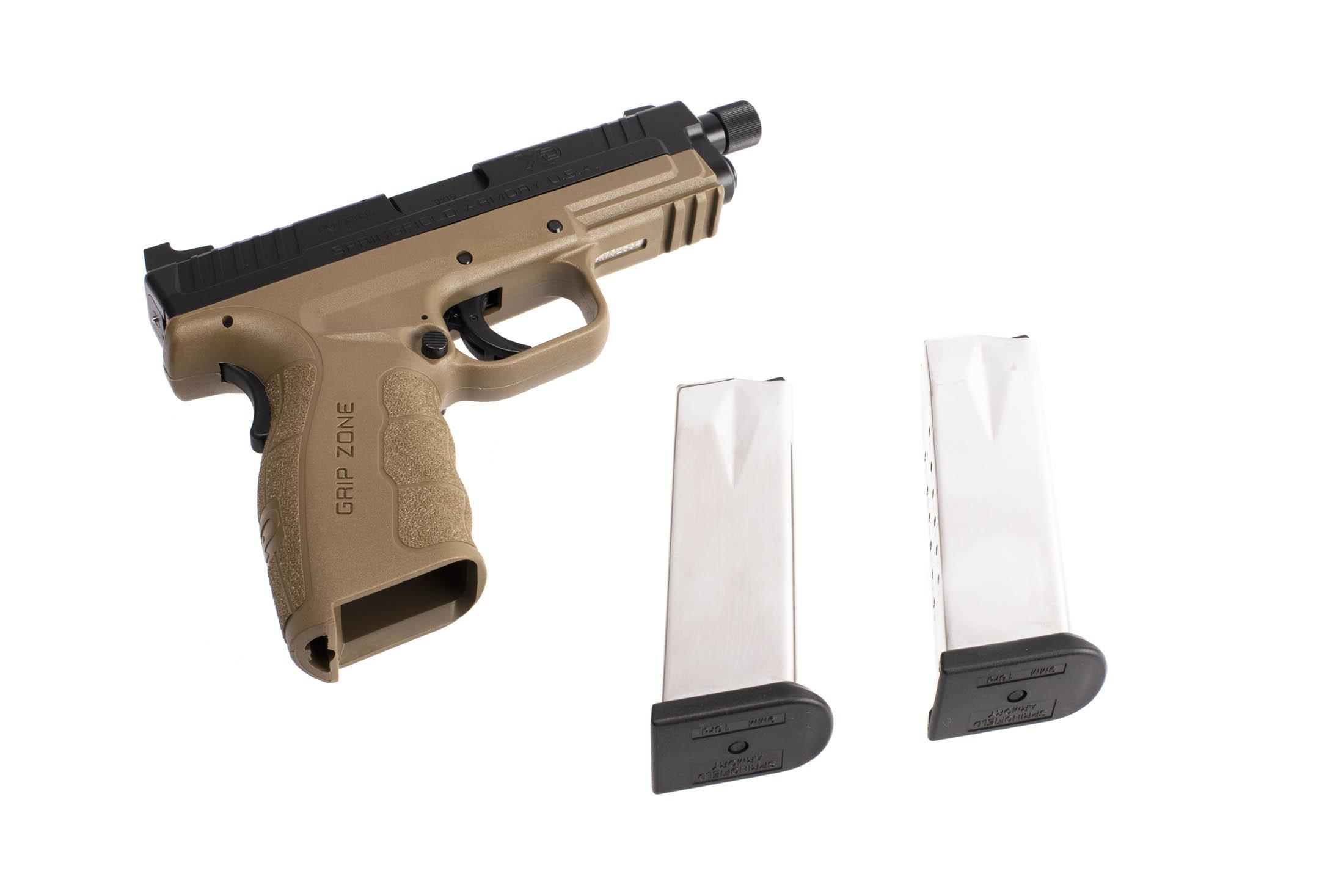 The Springfield Armory XD MOD.2 is a 9mm Full Size 16 round Handgun with two magazines