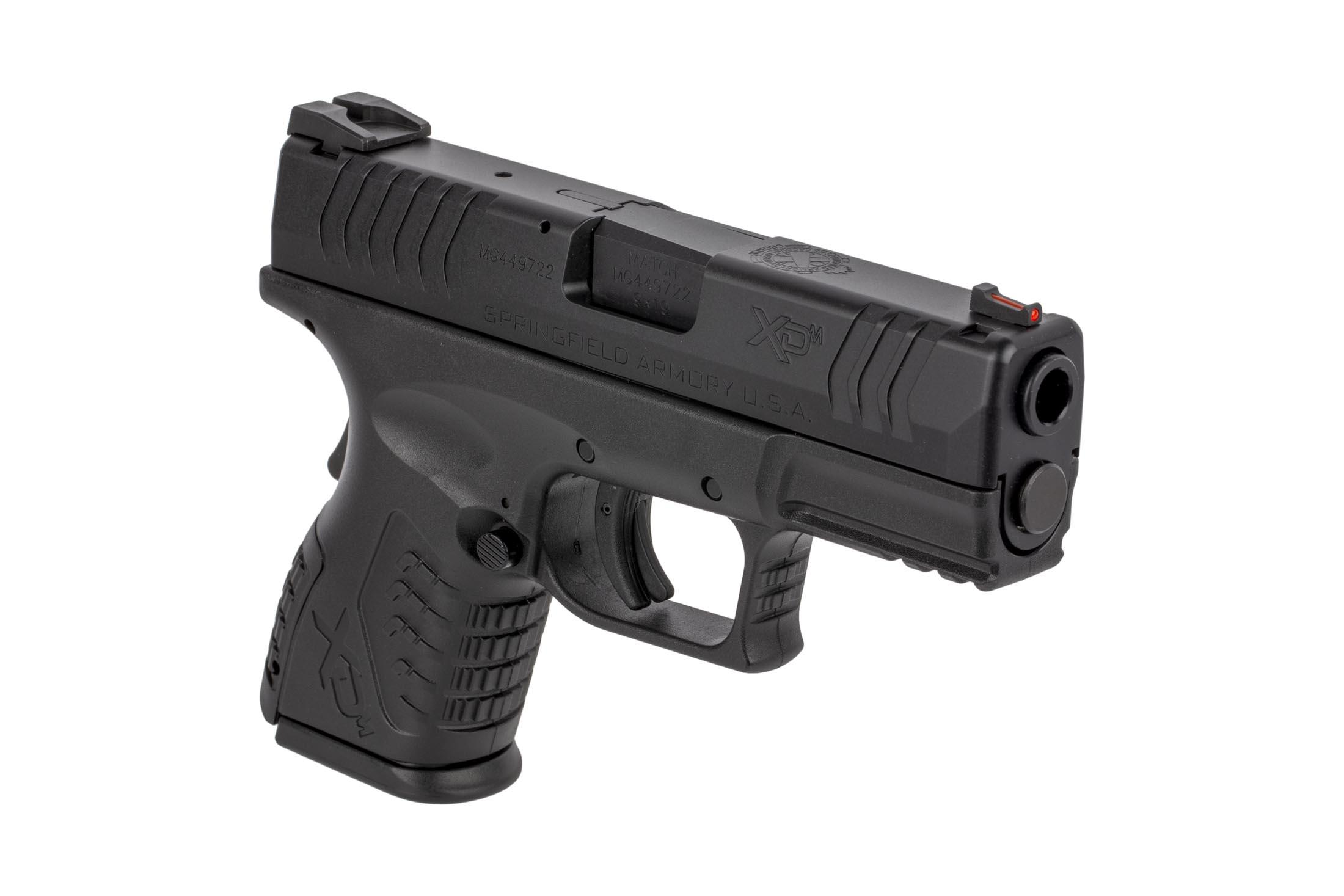 The Springfield Armory XDM is a 9mm Compact 19 round Handgun with a 3.8 inch Barrel and Black polymer frame for concealed carry